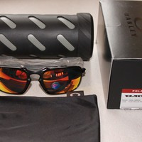 OAKLEY BADMAN W/ POLARIZED RUBY IRIDIUM LENS SUNGLASSES BNIB