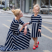 Mommy & Me Matching Pin Stripe Dresses