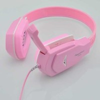 OSOYOO Pink 3.5mm Headband Stereo HiFi Super Bass Gaming Headphone Headset w/ Microphone
