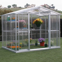 8.5 x 6 ft. Polycarbonate Greenhouse with Roof Vent