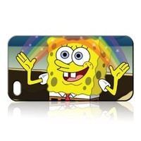 Spongebob Squarepants Hard Case Skin for Iphone 4 4s Iphone4 At&t Sprint Verizon Retail Packing.