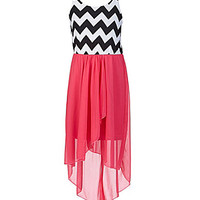 Ruby Rox 7-16 Chevron-Printed-Bodice Dress | Dillards.com