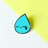 cry while you cry enamel pin