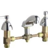 Chicago Faucet Wrist Blade Handle Bathroom Faucet, Less Waste Assembly, Lead Free