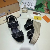 LV Louis Vuitton Sandals Shoes 100mm Stiletto Heel White Thick Bottom Casual Women Slippers