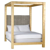Moss Studio, Luxe Canopy Bed, Gold, Canopy Beds