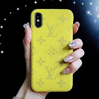 Louis Vuitton LV Fashion New Monogram Print Women Men Phone Case Protective Cover