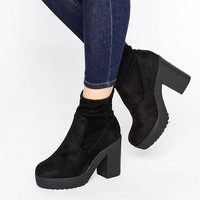 New Look Chunky Sock Boots at asos.com