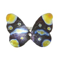 Giampouras 5036 ~ Anodized Colored Titanium Butterfly Ring