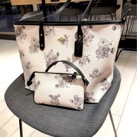 COACH 2019 new Tot letter print women's shopping bag bag two-piece