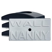 Wall Nanny - Baby Gate Wall Protector (Made in USA) Protect Walls & Doorways from Pet & Dog Gates - for Child Pressure Mounted Stair Safety Gate - No Safety Hazard on Bottom Spindles - Saver Black