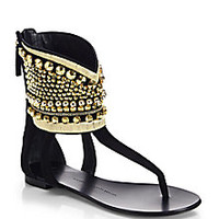 Giuseppe Zanotti - Embellished Ankle-Cuff Thong Sandals - Saks Fifth Avenue Mobile