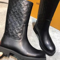 LV Louis Vuitton Women Fashion Leather Boots Shoes
