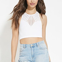 Caged Cutout Crop Top