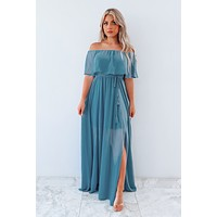 Dreaming Of The Day Maxi: Slate Blue