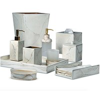Marbleous Bath Accessories by Mike + Ally