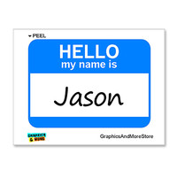Jason Hello My Name Is Sticker