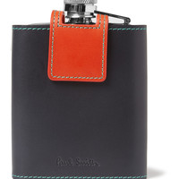 Paul Smith Shoes & Accessories - Leather-Cased Pewter Hip Flask | MR PORTER