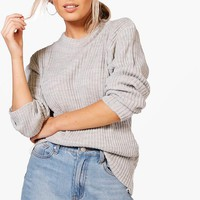 Rib Knit Jumper | Boohoo