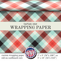 Wrapping Paper Tartan Plaid Pattern | Custom Gift Wrap In Two Sizes Great For Any Occasion. Made In The USA