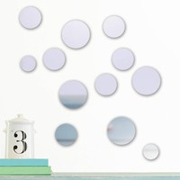 DCWV Adhesive Mirror Ovals or Butterflies Wall Decal - Walmart.com