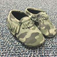 Camo Moccasins for Baby