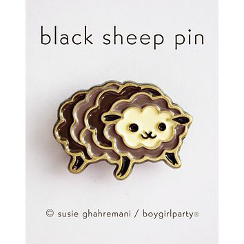Black Sheep Pin - Unique Enamel Pin / Lapel Pin - Idiom Gift