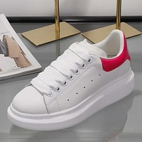 Alexander McQueen Woman Men Fashion Casual Sneakers Sport Shoes