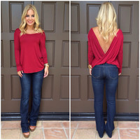 With a Twist Top - BURGUNDY