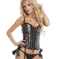Sunset Reversible Satin And Lace Corset