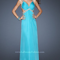 Long Open Back Dress with Side Cut Outs