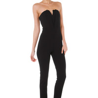 Wasted Kisses Strapless Black Jumpsuit