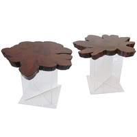 Cypress Wood End Tables