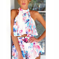 Afternoon Delight Two-Piece Floral Romper   A Handmade Hustle