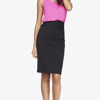 High Yoke Waist Studio Stretch Midi Pencil Skirt from EXPRESS