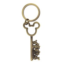 Disney Parks Mickey and Friends Antique Key Keychain New with Tags