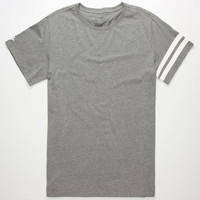 Tavik Selector Mens Tall Tee Heather Grey  In Sizes