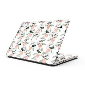 The Coral Flower and Hummingbird All Over Print - MacBook Pro with Retina Display Full-Coverage Skin Kit