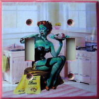 Green zombie in a pink retro kitchen a fun theme on by marimakings