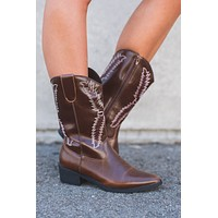 Country Dreaming Cowboy Boots (Brown)