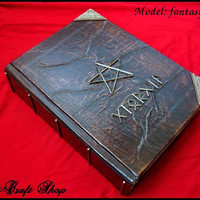 Book of Shadows fantasy runic - wicca magic paganism - small size 16.2X11.8 cm