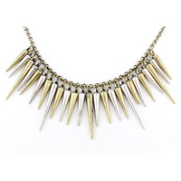 Special Cool Silver and Gold Bullets Necklace