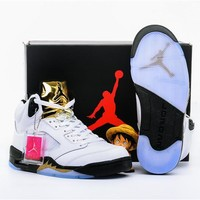 Air Jordan Retro 5 Olympic Men Basketball Shoes US 8-13 with box