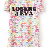 Loser For Eva Graphic Print Casual Dress