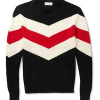 Ovadia & SonsStriped Knitted Cotton Sweater|MR PORTER