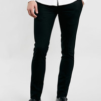 BLACK ULTRA SKINNY SMART DRESS PANTS - $50 Dress Pants - Men's Pants - Clothing- TOPMAN USA
