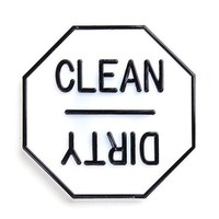 "Fox Run Dishwasher Clean / Dirty 2.5"" Magnet Indicator Sign"