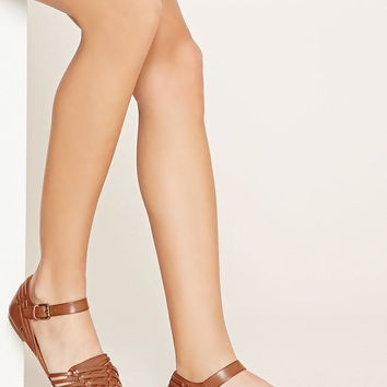 Cutout Faux Leather Sandals | Forever 21 - 2000170181