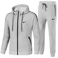 Boys & Men Nike Cardigan Jacket Coat Pants Trousers Set Two-Piece