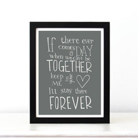 Disney Quote Poster Winnie the Pooh if there ever by SimpleSerene